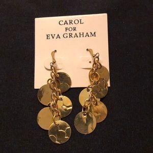Gold coin dangle earrings